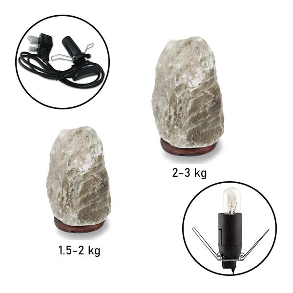 Natural Rare Grey Salt Lamp