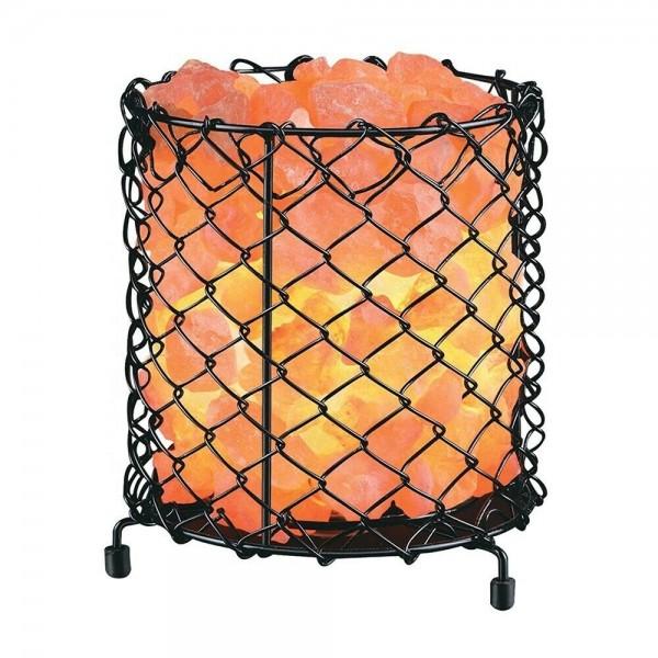 Round Basket Salt Lamp