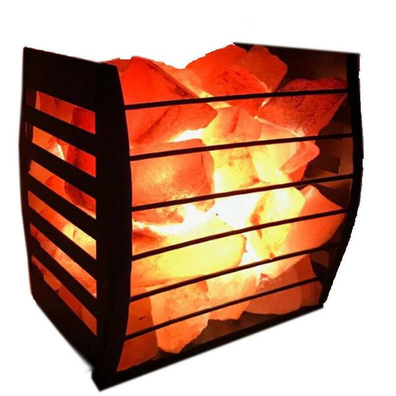 Rectangle Basket Salt Lamp