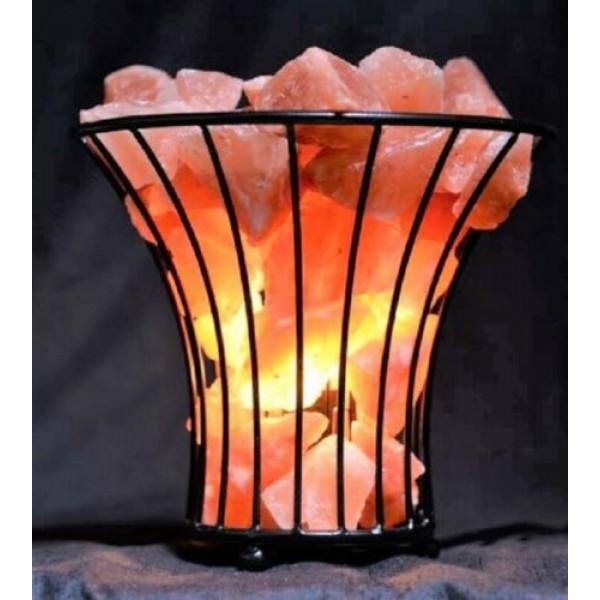 Vase Basket Salt Lamp