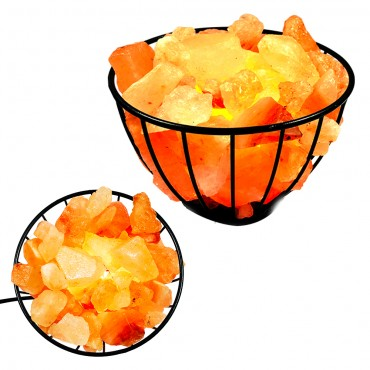 Iron Basket Salt Lamp