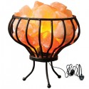 Flower Basket Salt Lamp